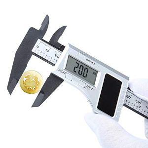BU-SOH Vernier Caliper Pied à Coulisse numérique LCD numérique Règle électronique Vernier Caliper Calibre micrométrique de Mesure Blanc de l'outil Outil de Mesure (Color : White, Size : One Size)
