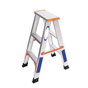 Echelle pliable télescopique échelle droite en alliage d'aluminium ménage portable vestiaire deux trois à quatre marches