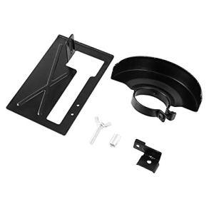 Support de sable de support de coupe de machine de coupe de broyeur d'angle allongé + couvercle de protection des outils pour le travail du bois – noir