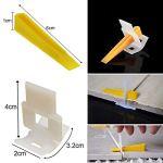 2–Niveau sol Entretoise lippage Tile Leveling Entretoise système Construction Outil de cales Croisillons