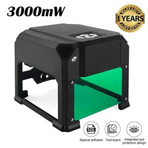 Graveur laser 3000mw K5, aucune installation requise et super facile à utiliser pour une utilisation domestique Mini imprimante de gravure DIY pour Windows OS
