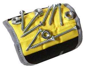Magnelex wristband magnétique pour outils de serrage, vis, clous, boulons, trépans. cadeau unique pour les hommes, le père/père, mari, ami, homme à tout faire 11,2 x 4,1 x 0,1 pouce jaune