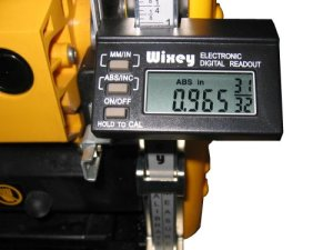 Wixey WR510 Digital Planer Readout with Fractions by Wixey