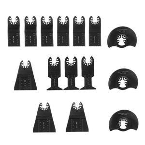 Dalin Lot de 15 lames de scie oscillantes en acier carbone