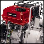 Einhell Pompe d'évacuation thermique GC-PW16 (1.6kW, moteur 4 temps, embout de remplissage, bouchon de purge, sécurité manque d'huile, avec 2 adaptateurs pour tuyaux + colliers, et crépine)