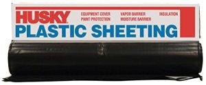 Husky Cf0416b 4ml de déverrouillage Polyéthylène en plastique, 16'x 100', Noir
