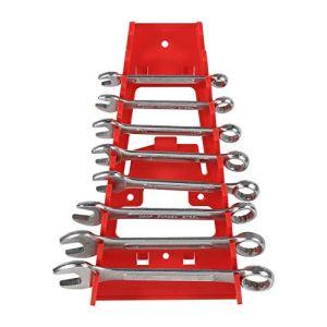 Porte-clés solides et solides pour économiser de l'espace Organisateur de support de clé en plastique rouge à 9 fentes