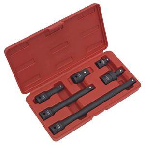 Sealey AK5514 Ensemble adaptateur à impact et barre d'extension 6 pièces 1/2″ Sq Drive