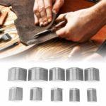 10 Pièces/Boîte Portefeuille en Cuir Coin Bord Tondeuse Travail Manuel Ceinture en Cuir Coin Coupeur de Poinçon Bricolage en Forme de V en Cuir Artisanat Outils