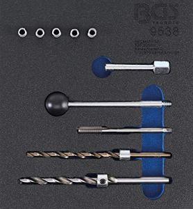 BGS 9538 | Insert de servante d'atelier 1/6: Kit de réparation de filetages | pour vis de fixation d'injecteur | 10 pièces