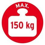 Brennenstuhl 1485010 HAB 150 Tréteau double appui en Bois, Beige