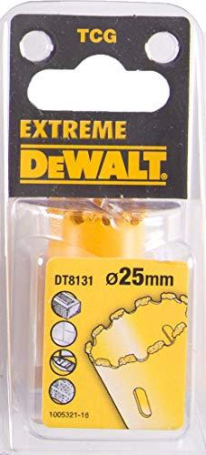 DeWalt HM Scie cloche ornée de poussière de métal dur, 25mm, dt8131de QZ