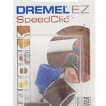 Dremel S407 Adaptateur de ponçage EZ SpeedClic Diamètre 13mm fourni avec 2 bandes à poncer grain 60 et 120 pour outils rotatifs Dremel