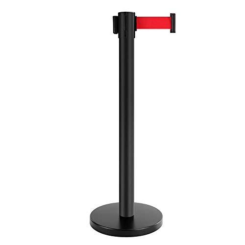 File Barriers Security Pole Posts Shrink rambarde en acier inoxydable Ressort librement Châssis silencieux Convient pour les événements ou le contrôle des foules ( Color : Black , Size : 900x320mm )