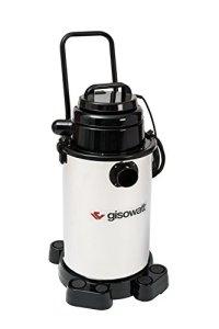 Gisowatt – Industrial 30Wet & Dry – Aspirateur Wet & Dry & Blow avec Chariot – 30litres – Inox