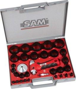 SAM Outillage 694-C-32-N Coffret de découpe-joints 32 pièces avec poignée confort