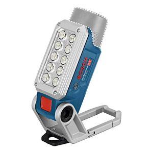 Bosch Professional 06014A0000 12V System Lampe LED sans-fil GLI 12V-330 (330 Lumen, Autonomie : 180 min/Ah, sans Batterie/Chargeur, dans Carton) Bleu