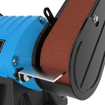 Güde 55223 Meuleuse combinée GKS 150-25 (pied de machine stable, moteur à condensateur, dispositif de protection anti-étincelles réglable)