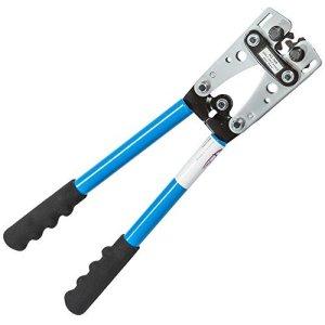 TecTake Pince à sertir 6-50 mm² outil de sertissage réglable sertisseuse câble