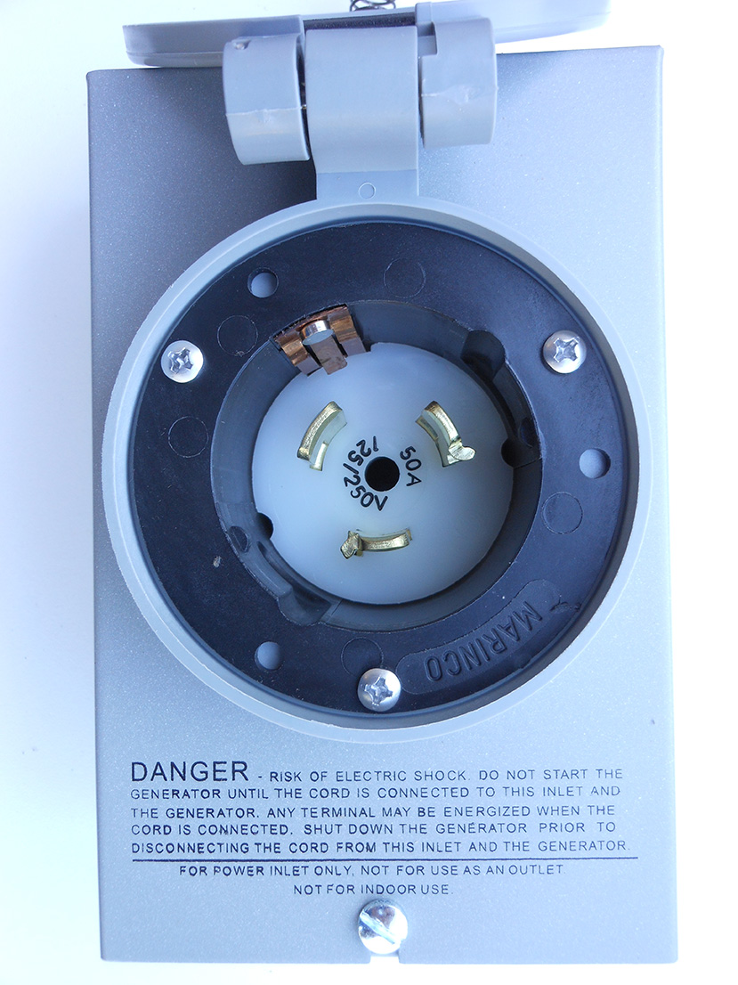Power Inlet 50 Amp Twist Lock Geninterlock