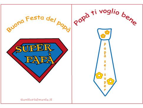 Biglietto per la Festa del Papà | Genitorialmente