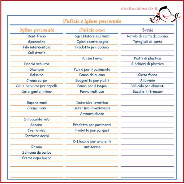 Lista della spesa da scaricare e stampare genitorialmente - Kasanova prodotti per la casa ...