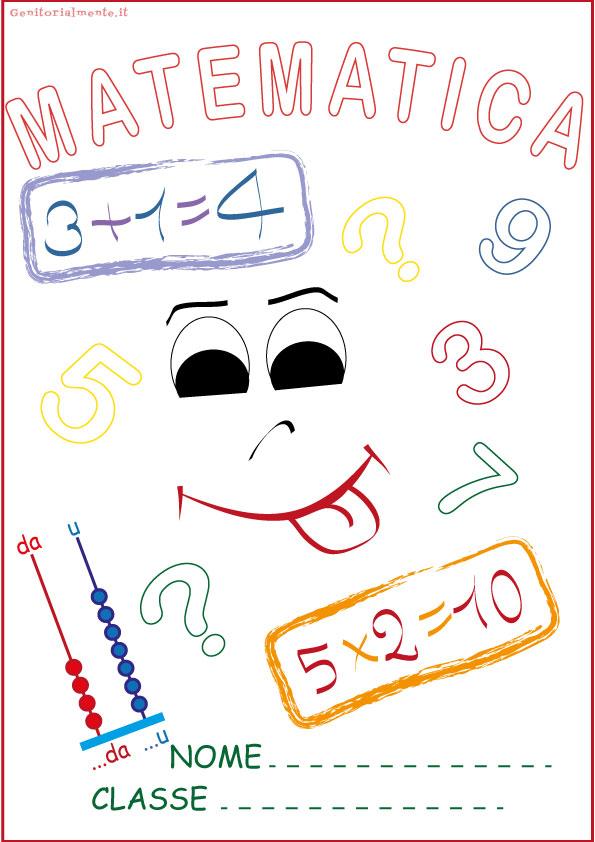 Copertine per quaderni da scaricare: matematica e italiano | Genitorialmente