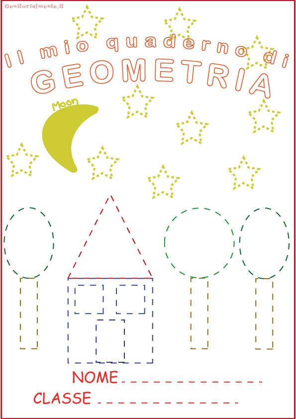 Copertine per quaderni da colorare: geometria | Genitorialmente