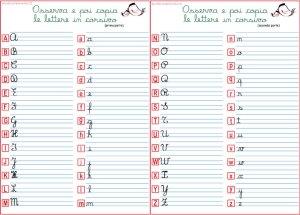 Alfabeto corsivo maiuscolo e minuscolo | Genitorialmente