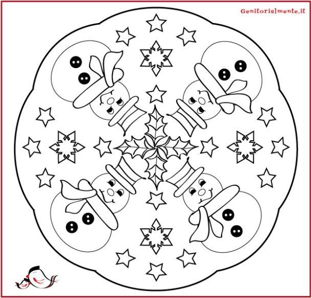 Mandala natalizi da scaricare e colorare | Genitorialmente