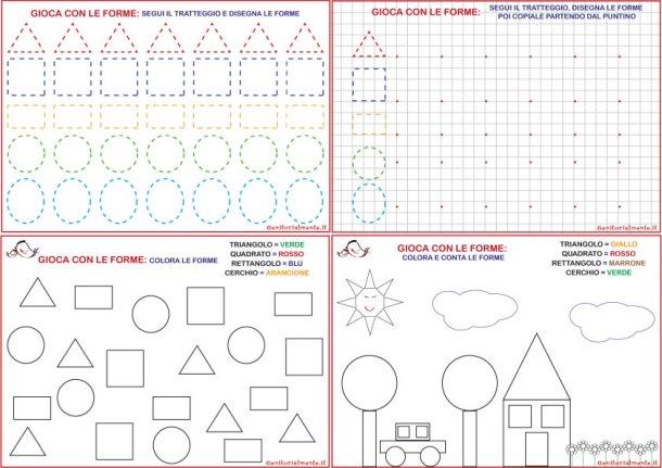 Schede sulle figure geometriche da scaricare | Genitorialmente