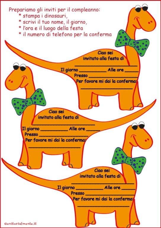 Come fare i biglietti di invito per il compleanno – biglietti dinosauro | Genitorialmente