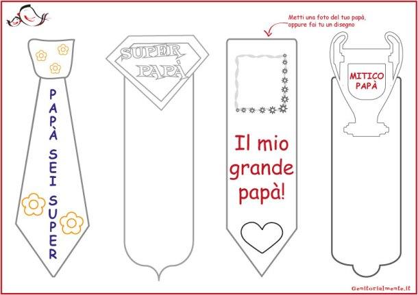 Segnalibri da colorare per la festa del papà e idee regalo | Genitorialmente
