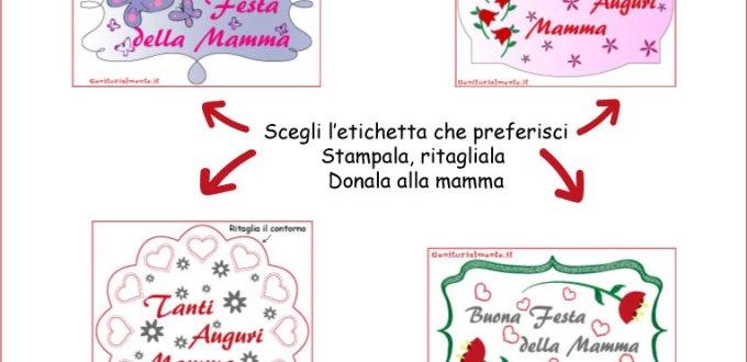 Etichette scaricabili per la festa della mamma | Genitorialmente