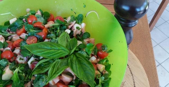 Ricetta estiva: insalata polpo songino e pomodorini | Genitorialmente