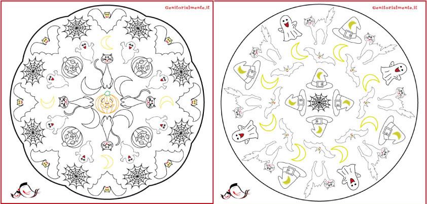 Mandala Da Colorare Per Bambini Di Halloween Genitorialmente