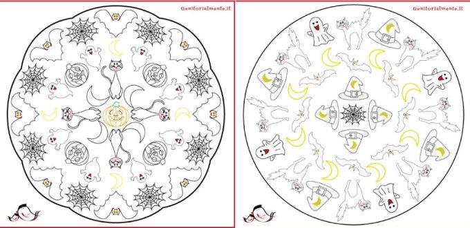 Mandala da colorare per bambini di Halloween | Genitorialmente