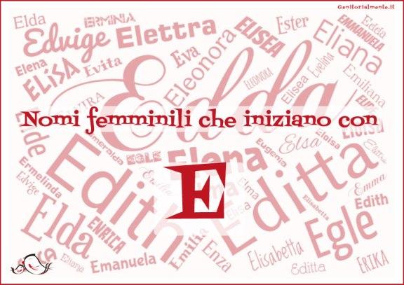 Nomi femminili che iniziano con E | Genitorialmente