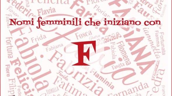 Nomi femminili che iniziano con F | Genitorialmente