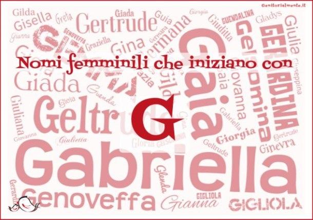 Nomi femminili che iniziano con G: significato, onomastico e curiosità
