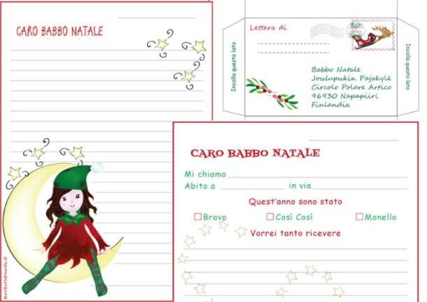 Busta e carta da lettera per Babbo Natale da stampare | Genitorialmente