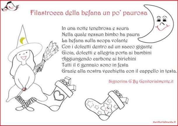 Filastrocca della befana da stampare | Genitorialmente