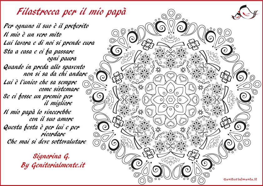 Mandala E Poesia Da Scaricare Per La Festa Del Papà