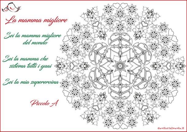 Filastrocca con Mandala per la festa della mamma | Genitorialmente