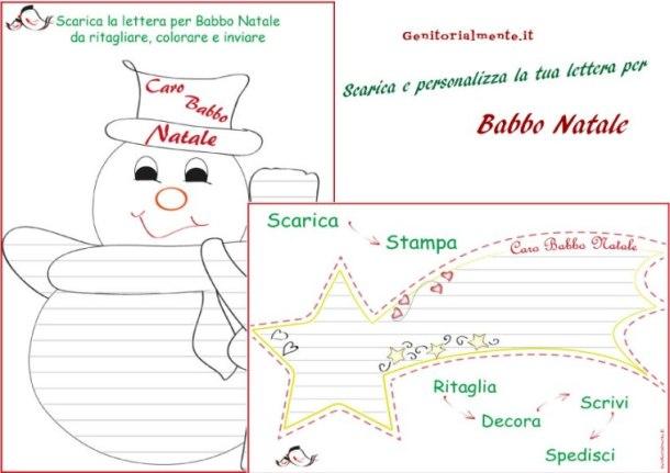 Lettera per Babbo Natale da stampare e decorare o colorare | Genitorialmente