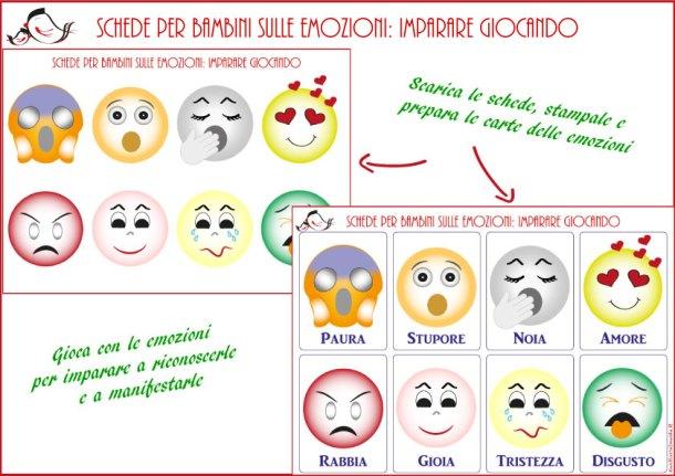 Schede per bambini sulle emozioni: imparare giocando | Genitorialmente