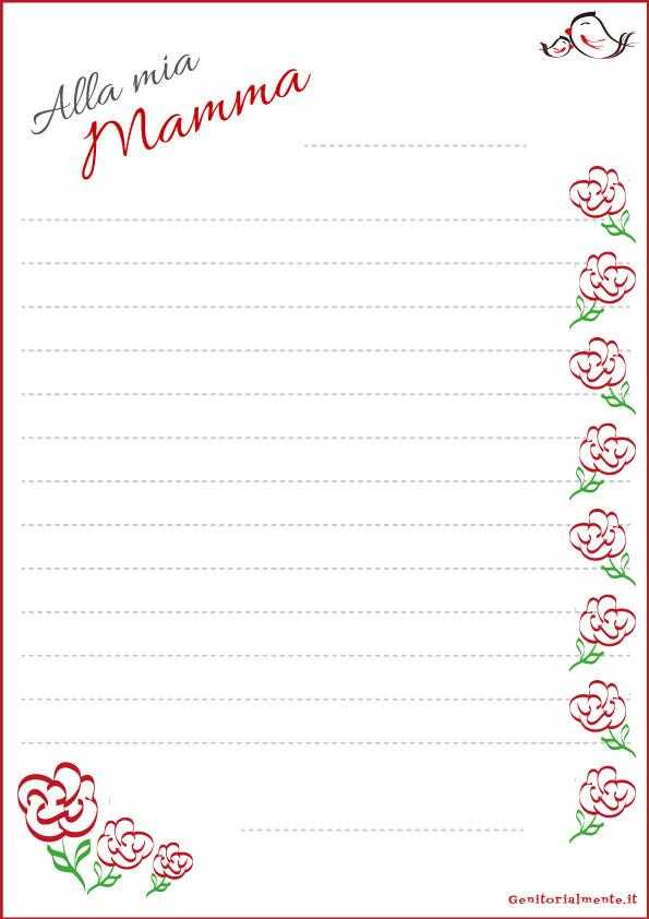 Carta da lettera e poesia da Stampare: Festa della Mamma | Genitorialmente
