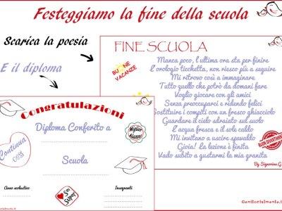 Fine della scuola: diploma e poesia da scaricare | Genitorialmente