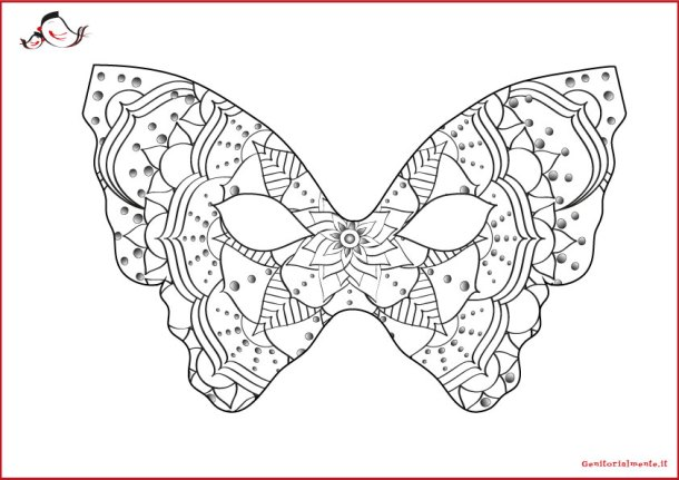 Mandala: maschere di carnevale da colorare e indossare | Genitorialmente
