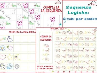 Sequenze logiche per bambini: schede da scaricare | Genitorialmente